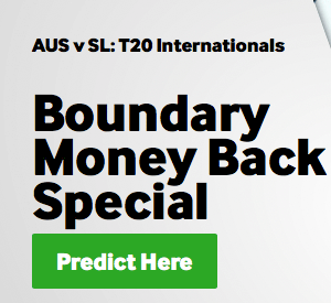 betway aus vs sl boundary money back offer
