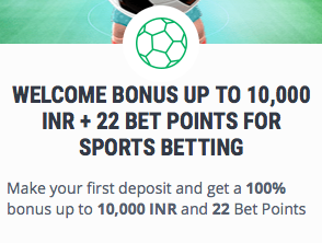 welcome offer by 22bet
