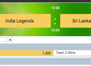 ind legends vs SL legends