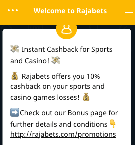 rajabets india customer support