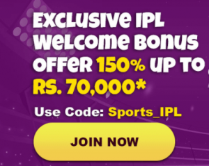 IPL welcome bonus promo code