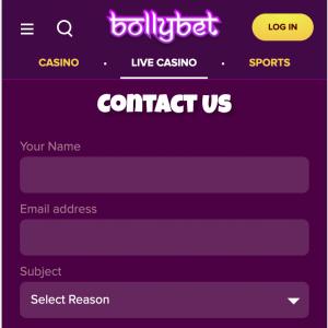 bollybet account verification