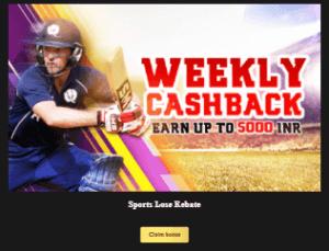 goawin weekly sports lose rebate